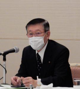 県政報告する佐竹敬久知事